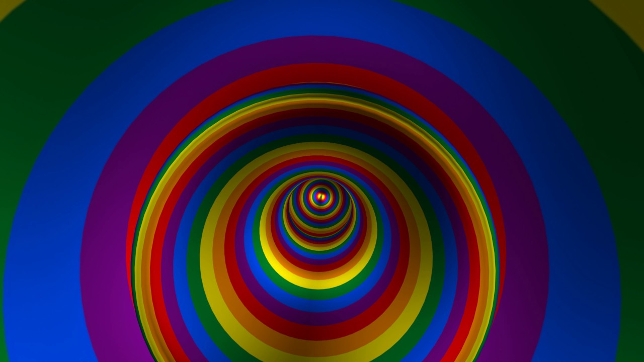 Hd Wallpapers Moving Free 4k Hypnotic Rainbow Tunnel Spin 2160p Free Motion