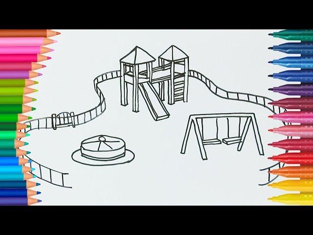 çocuk Parkı Boyayarak Renkleri öğren L çocuklar Için Gökkuşağı