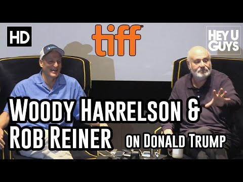 Rob Reiner & Woody Harrelson give their honest thoughts on Donald Trump (LBJ Press Conference)