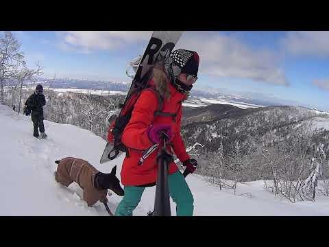 Backcountry snowboarding. 2017. Sakhalin