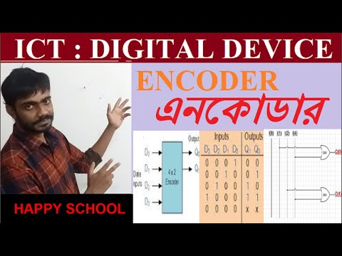 Encoder | 4 To 2 Encoder | HSC ICT Bangla Tutorial | এনকোডার