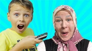 ANNEM YAŞLANDI! SİHİRLİ KUMANDA! Funny Kid and Magical remote control Transform, Pretend Playtime