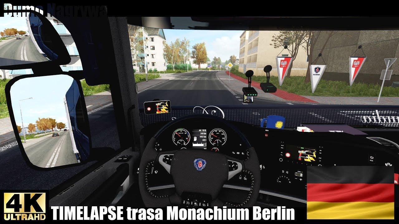 ☣ TIMELAPSE NIEMCY  Trasa Monachium Berlin  ETS2 Promods Nextgen [4K 60fps]