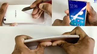 Oppo F1s - Gorilla Glass 4 Scratch test, Burn test, Bend test!