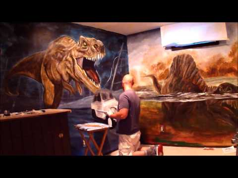 Jurassic Park Kid's Playroom Mural painted by CNY Murals