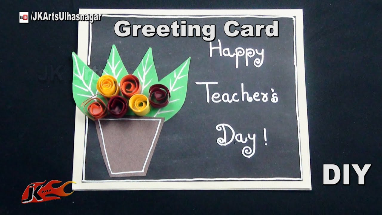 Diy easy chalkboard card for teachers day how to make jk arts diy easy chalkboard card for teachers day how to make jk arts 1050 youtube jeuxipadfo Image collections