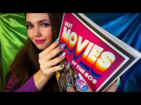 ASMR 2+ HOURS | Best Movies Of The 80s ~ Close Whispers • Tracing • Page Turning