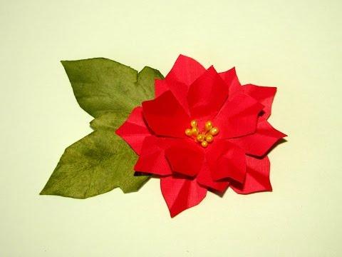 Paper Poinsettia Tutorial