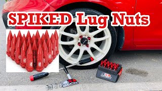 Changing Lug Nuts to Aluminum | B BLOX | AMAZON SPIKED LUG NUTS