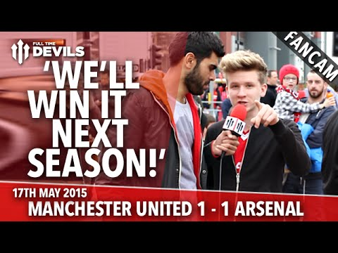 'We'll Win The League Next Season!' - Manchester United 1 - 1 Arsenal - Fancam - 동영상