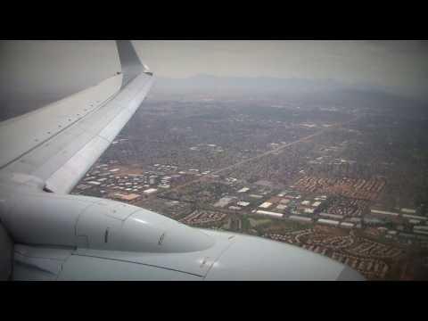 [HD] Wind Shear! American 737 Crazy Landing in Phoenix!