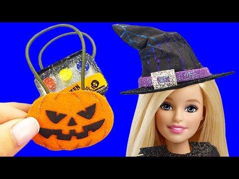 10 DIY Halloween Ideas for Barbie - Barbie Makeup, Barbie Dress and More Miniature Diy Crafts