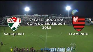 Gols - Salgueiro-PE 0 x 2 Flamengo-RJ - Copa do Brasil - 22/04/2015