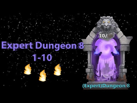 Castle Clash Expert Dungeon 8 (1-10)