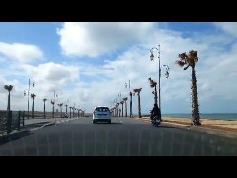 Route côtière Rabat - Plage Oued Yekem  الطريق الساحلي للرباط - شاطئ واد يكم