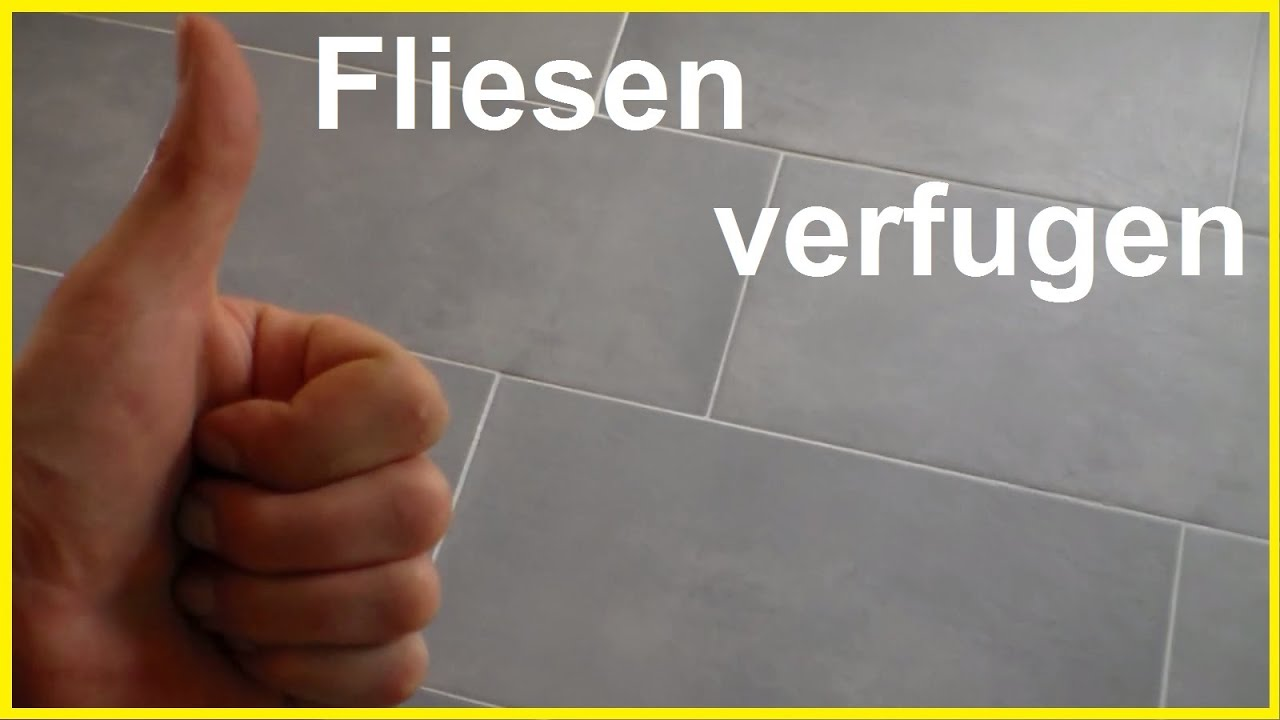 fliesen fugen - fliesen verfugen - how to grout tiles - bodenfliesen