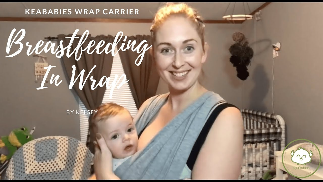 b5d5b71e254 Tutorial  Breastfeeding With Baby Wrap Carrier - YouTube