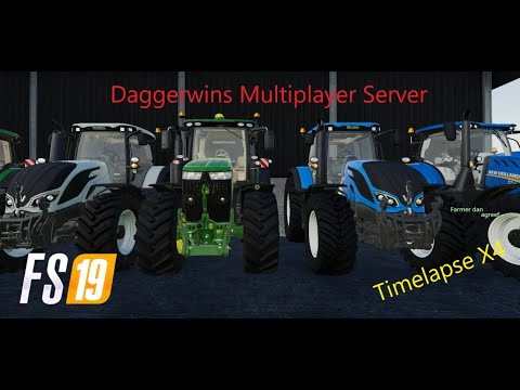Selling Silage-Official Daggerwins Multiplayer Server-Timelapse- Farming Simulator 19 |