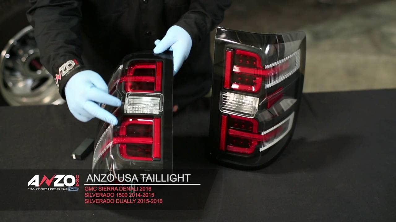 AnzoUSA 2014-15 Silverado Led Tail Light Install - YouTube