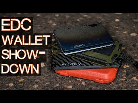 BEST EDC Wallet Showdown - Trayvax, Flipside, Fantom, Ridge Wallet review and comparison