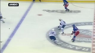 Stepan beats Bernier from center ice