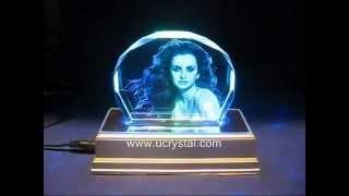 Laser photo crystal engraving