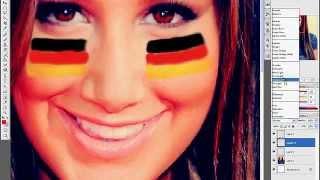 EURO 2012 ICON TUTORIAL-little flags on cheeks:)