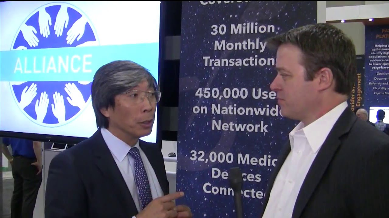 Dr. Patrick Soon Shiong CEO of Nanthealth with Leonard Kish