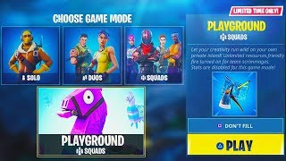 "NEW ""PLAYGROUND"" GAMEMODE in Fortnite! - NEW Fortnite PLAYGROUND LTM MODE! (Fortnite New Playground)"