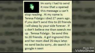 Truth ghost story of Teresa fidalgo