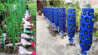 90 Beautiful Garden ideas Using Old Plastic Bottles - DIY Garden Ideas