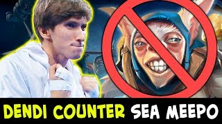 Dendi picked WORST COUNTER vs SEA Meepo on mid — he doesn't care