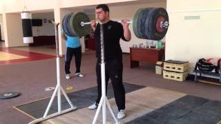 RAW 300kg/660lbs Back Squat @19yrs
