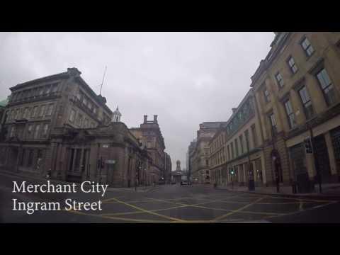 Driving around Glasgow City Centre 2017