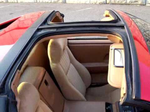 1988 Pontiac Fiero GT 5 speed T tops For Sale! - YouTube