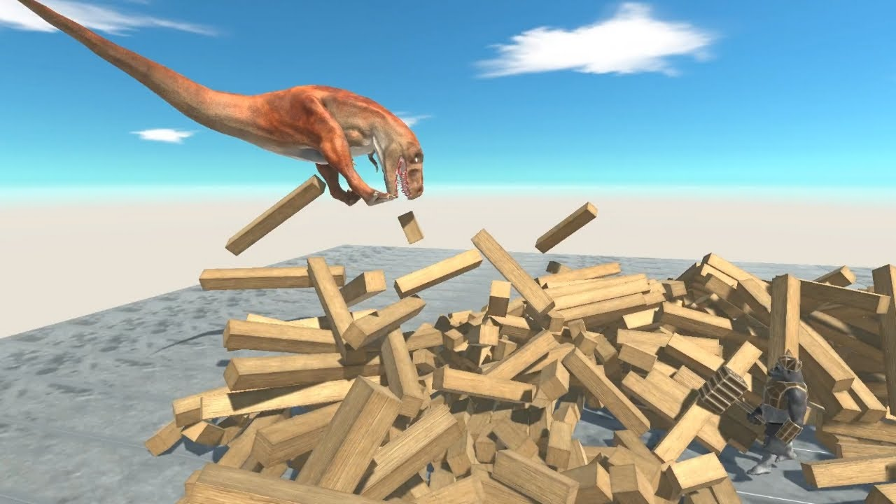 T-REX in Giant Brick Box vs ALL UNITS Animal Revolt Battle Simulator