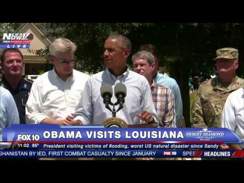 FNN: Obama Visits Flood Victims and Gives Speech near Baton Rouge, Louisiana - FULL VIDEO