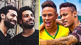 FAMOUS FOOTBALLERS and his DOUBLE ● NEYMAR, SALAH, RONALDO, MESSI, IBRAHIMOVIC