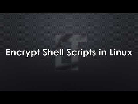 Encrypt Shell Script In Linux