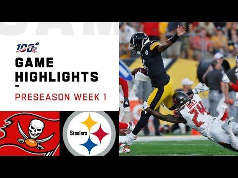 Buccaneers vs. Steelers Preseason Week 1 Highlights | NFL 2019