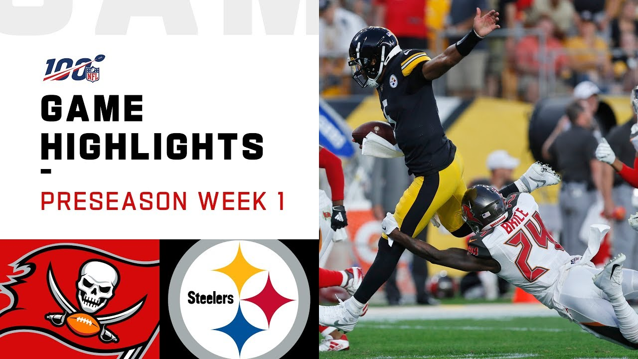 887b2c28 Buccaneers vs. Steelers Preseason Week 1 Highlights | NFL 2019