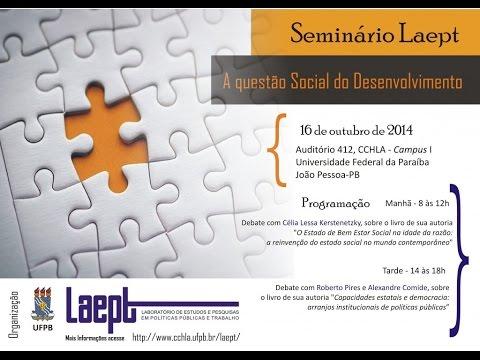 Seminário LAEPT – A questão social do desenvolvimento