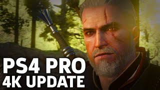 The Witcher 3 PS4 Pro 4K Update Gameplay