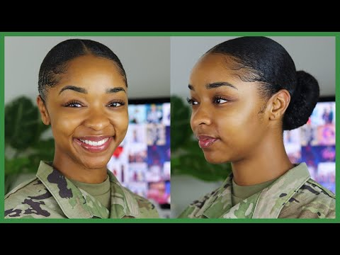 HOW TO MILITARY BUN FOR NATURALS THAT LASTS ALL DAY LONG - NO 🧢