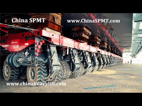 Self Propelled Modular Transporters (SPMT) 52 axle lines 2,000 ton - CHINA HEAVY LIFT