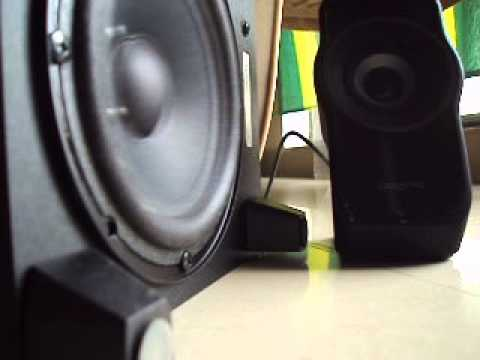 CREATIVE SBS A335 speaker bass test YouTube