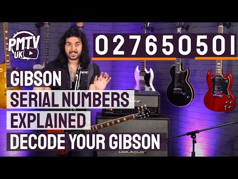 Gibson Serial Numbers Explained - How To Decode A Gibson Serial Number With Examples