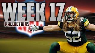 NFL Week: 17 Predictions!! - PLAYOFF BOUND!!