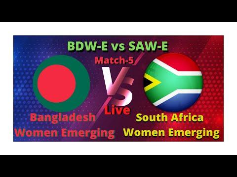 Bangladesh Women Emerging vs South Africa Women Emerging |5th Match| BANWE vs SAWE |Live Streaming