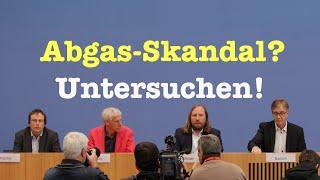 Abgasskandal: Linke & Grüne wollen Untersuchungsausschuss - Komplette BPK vom 28. April 2016